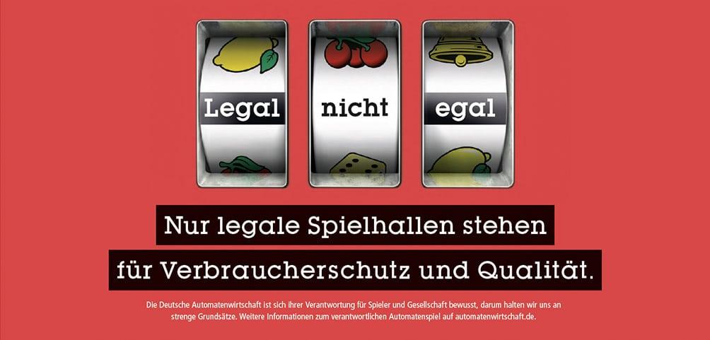 Kampagnenmotiv: Nur legale Spielhallen stehen für Verbraucherschutz und Qualität